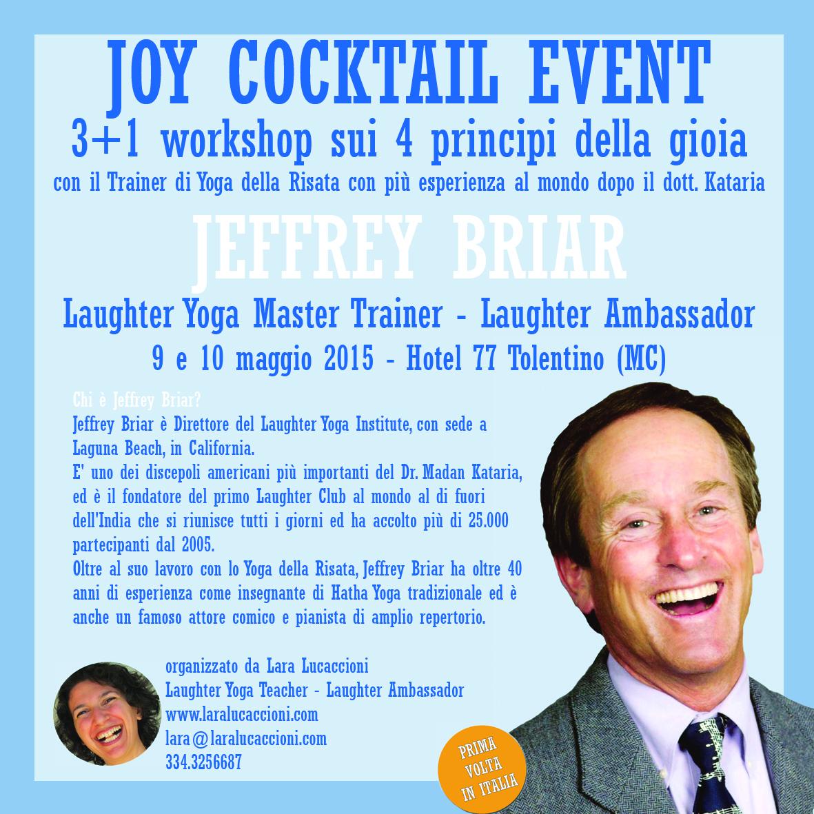 Il Laughter Kirtan – inventato da Jeffrey Briar – per la prima volta in Italia