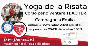 CAMPAGNOLA EMILIA – Corso di Certificazione internazionale a Teacher di Yoga della Risata – dal 05 al 08 dicembre 2020 @ Tenuta Santo Stefano | Bagno di Romagna | Italia