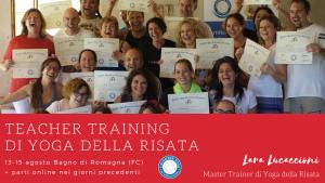 Corso di Certificazione internazionale a Teacher di Yoga della Risata – dal 13 al 15 agosto 2021 + parti online @ Pianconvento | Bagno di Romagna | Italia