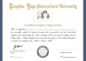 certificato Leader di Yoga della Risata