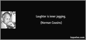 Laughter is inner jogging