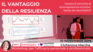 Il vantaggio della resilienza - Workshop di coerenza cardiaca - Domenica 10 Novembre 2019 - Civitanova Marche @ Sandwich Time