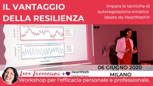 MILANO - Il vantaggio della resilienza - Workshop di coerenza cardiaca -Sabato 10 ottobre 2020 @ Artemedica
