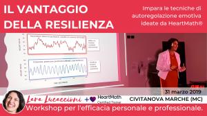 Il vantaggio della resilienza - Workshop di coerenza cardiaca - Domenica 31 Marzo 2019 - Civitanova Marche (MC) @ Sandwich Time