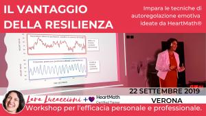 Il vantaggio della resilienza - Workshop di coerenza cardiaca - Domenica 22 Settembre 2019 - Verona @ Verona